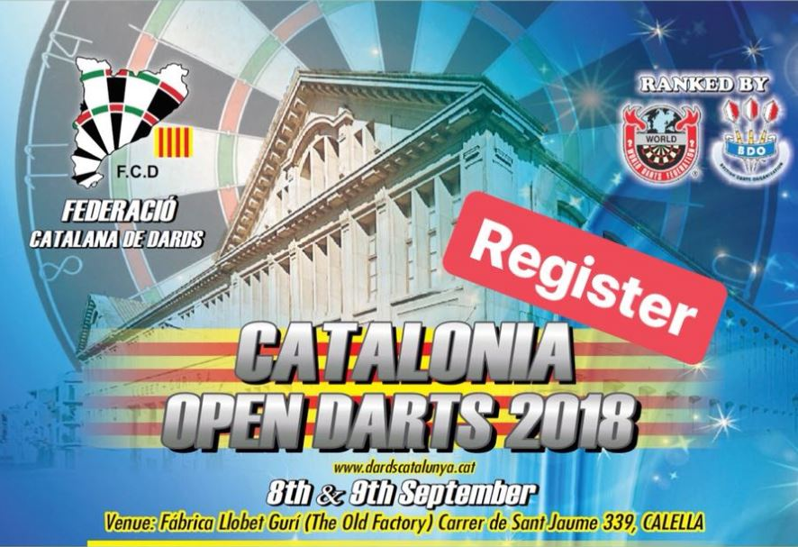 Catalonia Open Darts 2018 weekend - Register